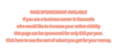 PAGE SPONSORSHIP AVAILABLE If you are a business owner in Boscastle  who would like to increase your online visibilty  this page can be sponsored for only £55 per year. Click here to see the sort of advert you get for your money.