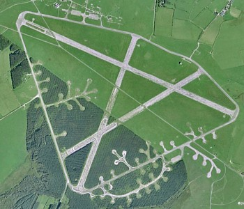 Davidstow Airfield. The three T2 Hangars have long since been removed, although several dispersed