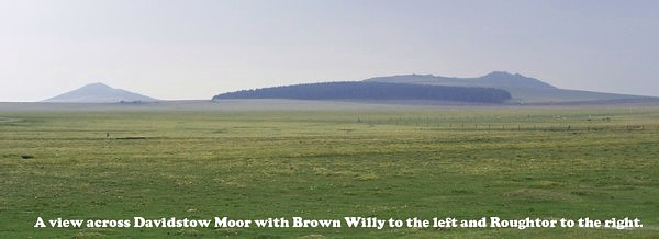 Roughtor and Brown Willy viewed from across Davidstow Airfield towards Bodmin Moor.