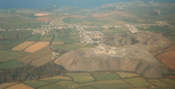 The quarry from which the villages around grew to ultimately become Delabole.