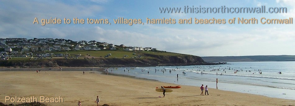 Polzeath beach and Polzeath village header