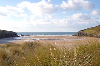 Porthcothan from the dunes.