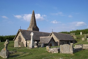 "St Enedoc Church. The last resting place of Sir John Betjemen ""poet laureate""."