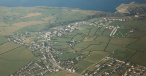 Aerial View of Tintagel
