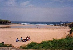 Picnic on the beach at Treyarnon