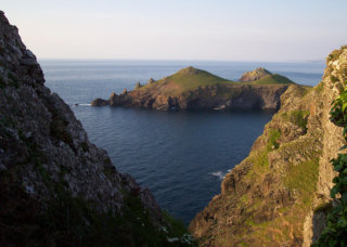 The Rumps viewed from Pentire Head