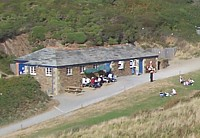 Sandymouth cafe, toilets and shop.