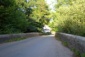 Potters Barn is at the other end of the bridge.