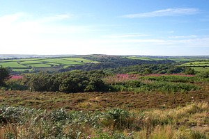 A view from Mine Hill...on the outskirts of St Breward...towards Delabole
