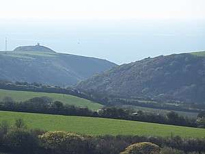 A view down Valency valley to Boscastle