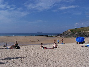 A view of Harlyn Sands in north Cornwall