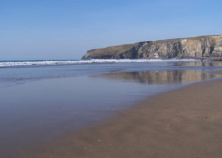 Trebarwith Strand at low tide