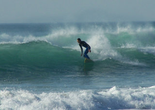 Surfing at Trebarwith